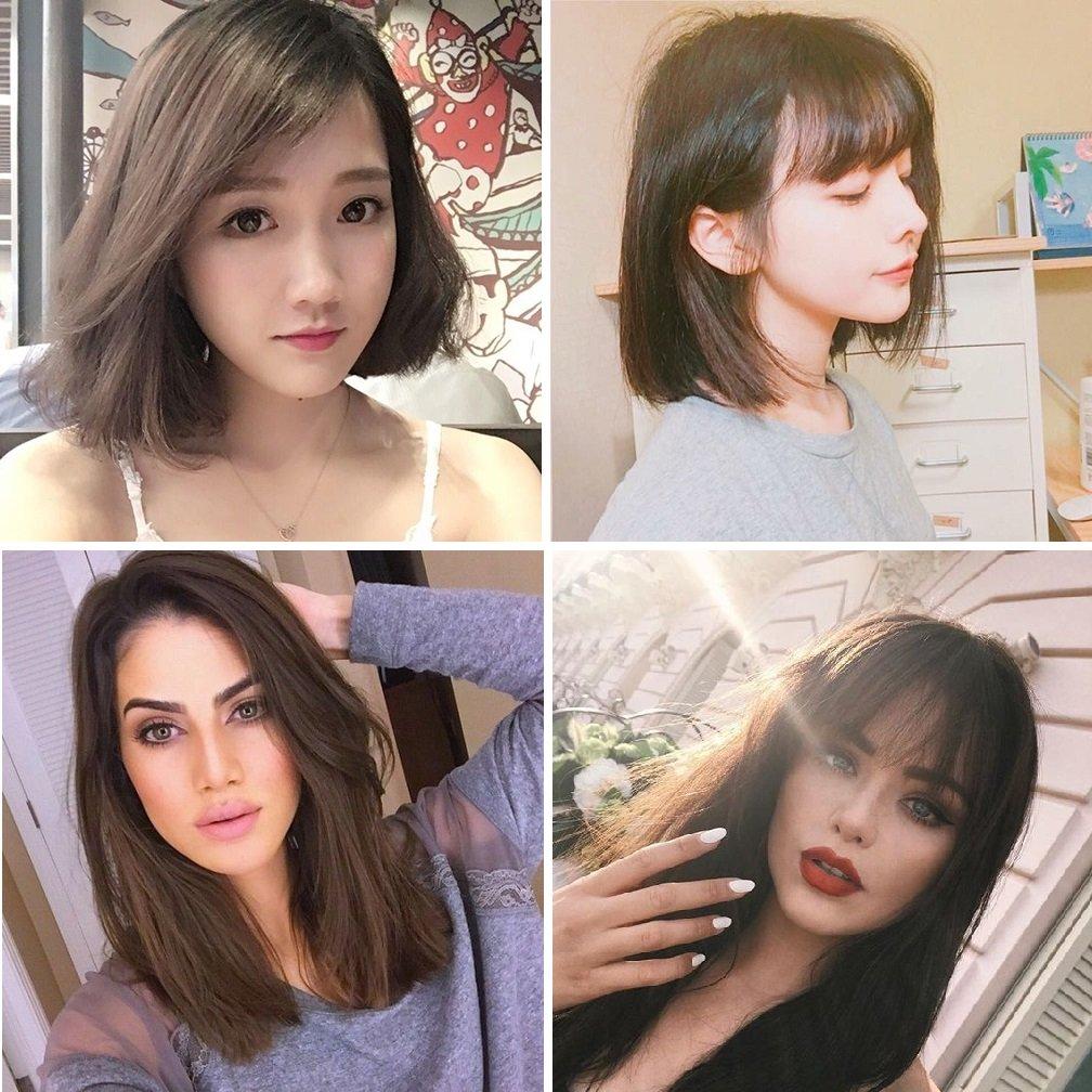 tóc mỏng mặt dài