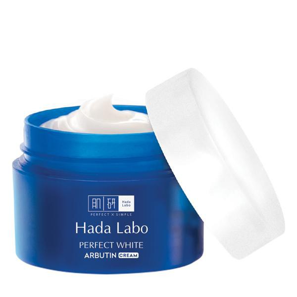 Kem dưỡng trắng mượt vượt trội Hada Labo Perfect White Arbutin Cream 50g |  Shopee Việt Nam