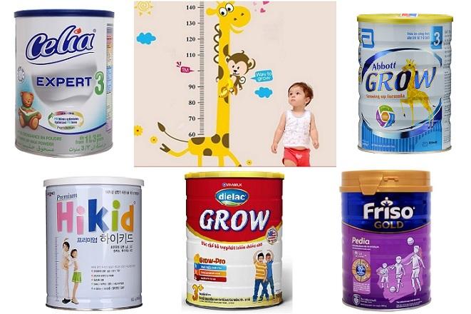 Top 7 các loại sữa giúp bé phát triển chiều cao đạt chuẩn tốt nhất hiện nay
